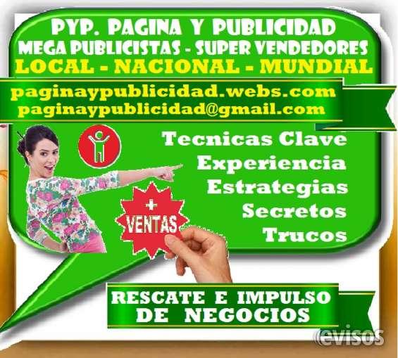 Pyp. pagina y publicidad = mega publicistas, super vendedores, ultra posicionamiento, dist