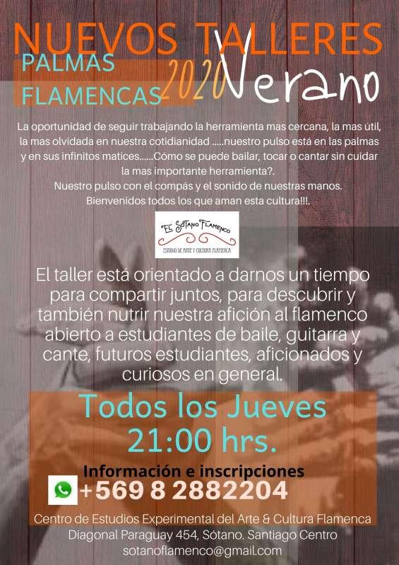 Palmas flamencas talleres verano 2020 te esperamos!!!!! la oportunidad de seguir trabajando la herramienta mas cercana, la mas útil, la mas olvidada en nuestra cotidianidad .....nuestro pulso está en las palmas y en sus infinitos matices......como se puede