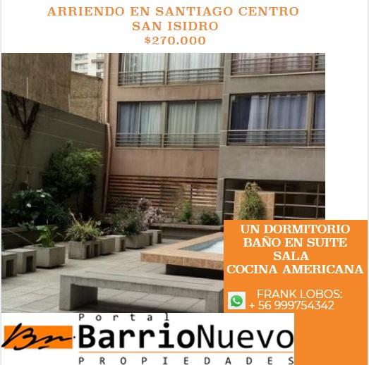Arriendo departamento en san isidro santiago centro