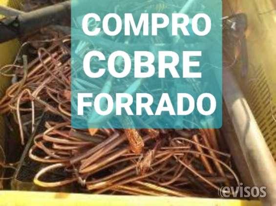 Compro cobre forrado(compro y retiro a domicio