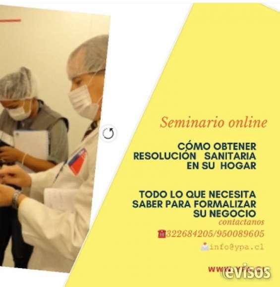 Seminario online cómo obtener resolución sanitaria