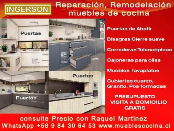 Reparación, fabricación de muebles de cocina