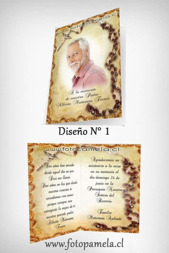 Invitaciones a misa  de honras defuncion chile