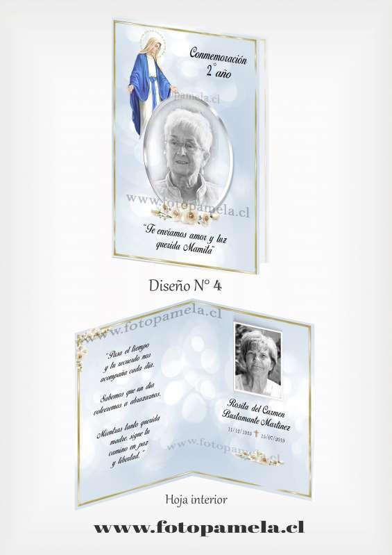 Tarjeta conmemoracion de muerte misa