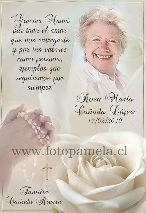 Diseños para tarjetas defuncion condolencias invitacion misa